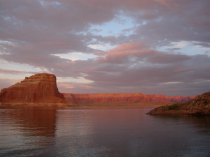 Sunset Lake Powell Arizona